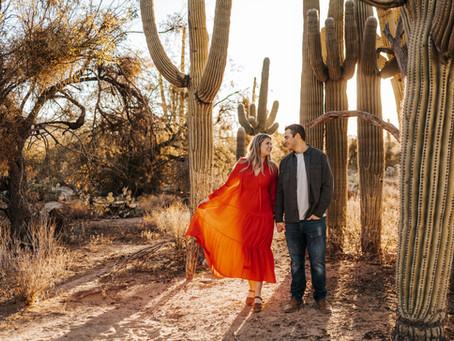 CARLEY + JOHNNY // SUNRISE DESERT ENGAGEMENT SESSION IN TUCSON // ARIZONA WEDDING PHOTOGRAPHER