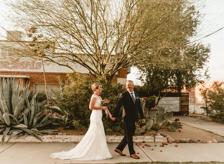 NATALIE + JEREMY // INTIMATE CEREMONY IN TUCSON'S WAREHOUSE DISTRICT // TUCSON WEDDING PHOTOGRAPHER