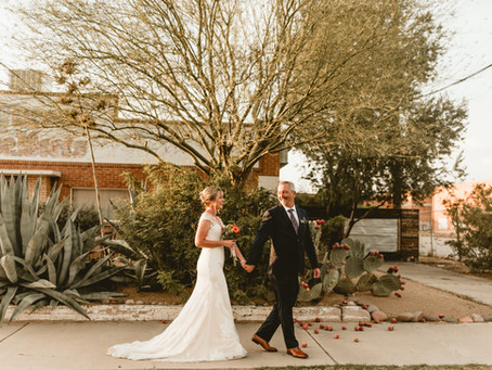 NATALIE + JEREMY // INTIMATE CEREMONY IN TUCSON'S WAREHOUSE DISTRICT // TUCSON WEDDING PHOTOGRAPHER