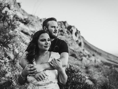 ALLIE + MASON // GATES PASS COUPLE'S SESSION // TUCSON WEDDING PHOTOGRAPHER