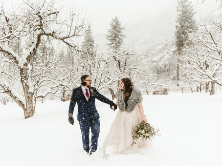 JALENE + MIKE // WINTER WONDERLAND WEDDING IN SNOWY FLAGSTAFF, AZ
