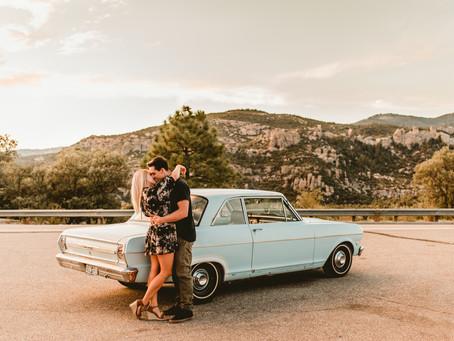 RICHARD + KATIE // VINTAGE CAR ENGAGEMENT SESSION // TUCSON WEDDING PHOTOGRAPHER