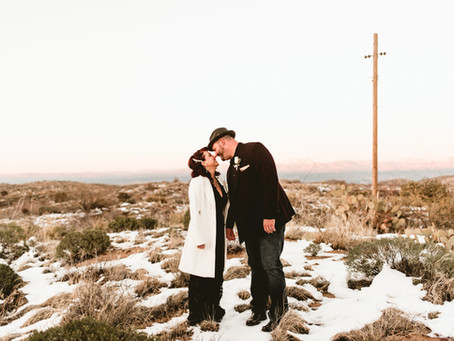 ANDY + VERNA // INTIMATE ELOPEMENT AT ORACLE STATE PARK