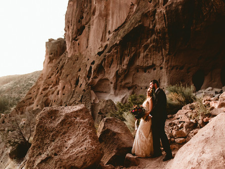 ILYA + ALEXANDRA // ADVENTURE ELOPEMENT IN BANDELIER NATIONAL MONUMENT // ADVENTURE ELOPEMENT PHOTOG