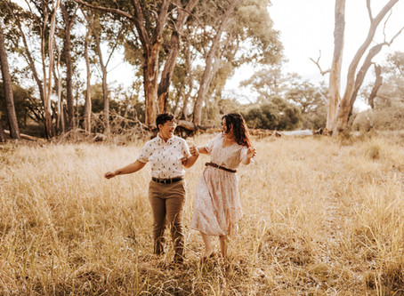 SARAH + DANA // WHIMSICAL FOREST ENGAGEMENT SESSION IN SONOITA // TUCSON WEDDING PHOTOGRAPHER