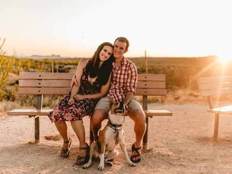 CARONAE + PAUL // SUNSET DESERT ENGAGEMENT SESSION AT CATALINA STATE PARK // TUCSON WEDDING PHOTOGRA
