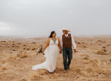 SHANIA + REGGIE / SUNSET NAVAJO INTIMATE WEDDING IN NORTHERN ARIZONA / ARIZONA WEDDING PHOTOGRAPHER