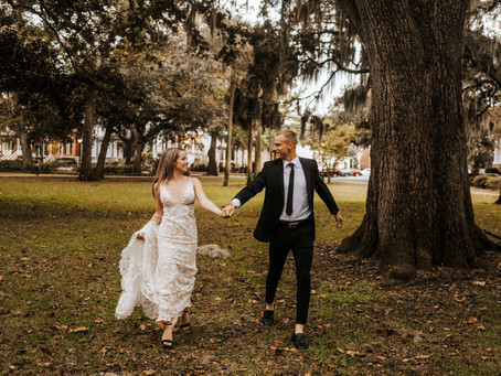 CHALISS + JOSH // SUNSET SAVANNAH ELOPEMENT AT FORSYTH PARK // SAVANNAH WEDDING PHOTOGRAPHER