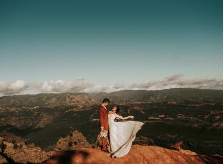 SHIANNE + TOPHER // KAUAI ELOPEMENT AT WAIMEA CANYON // KAUAI WEDDING PHOTOGRAPHER