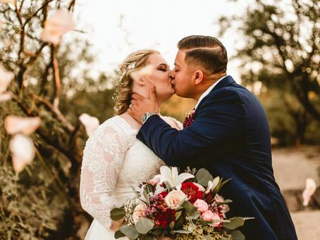 JESSICA + JOSE // ROMANTIC SUNSET WEDDING AT SAGUARO BUTTES // TUCSON WEDDING PHOTOGRAPHER