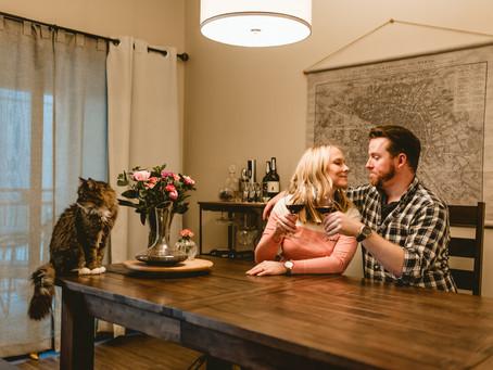 MARK + VALERIE // AT-HOME ENGAGEMENT SESSION // TUCSON WEDDING PHOTOGRAPHER