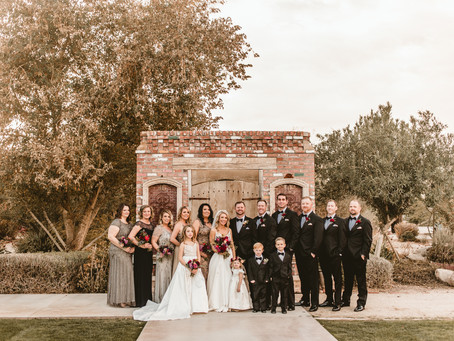 CASSIE + JAKE // WINERY WEDDING IN FLORENCE, AZ