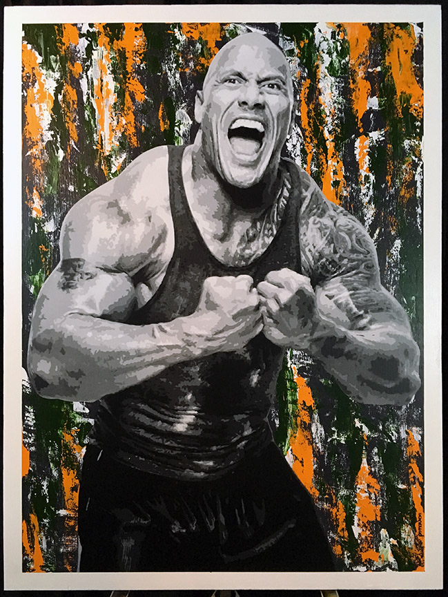 WWE The Rock Painting.jpg