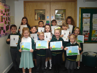 Well done to those who received a Golden Book certificate in this week's assembly.