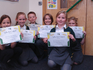Congratulations to our KS2 Golden Book certificate winners too.  Well done!