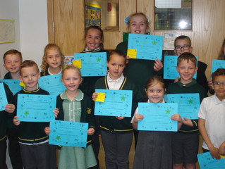 Look who's won a certificate in our C.A.R.E assembly today for demonstrating one of our values o