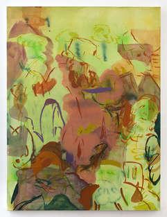 Hot Gossip 2020 120x90cm egg tempera & acrylic ink on canvas