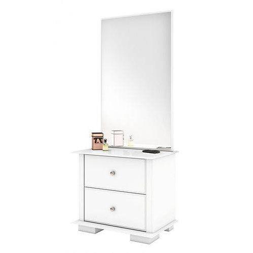 Espelheira Bechara Luxo JB 7778 Branco Brilho