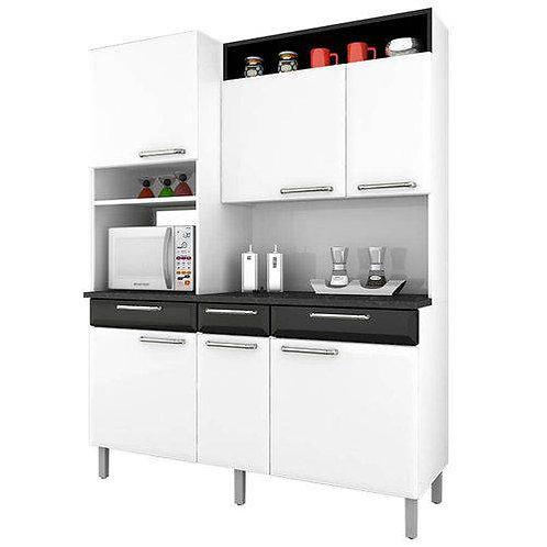Kit Cozinha Itatiaia Regina C/Tampo BCO/PTO