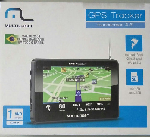 GPS MULTILASER TRACKER 2 4,3 SLIM GP011