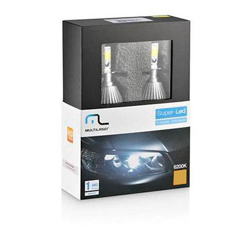 LAMPADA SUPER LED MULTILASER  H11 6200K AU828