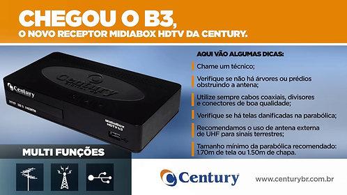RECEPTOR CENTURY MIDIA BOX HDTV B3 C/CONVERSOr