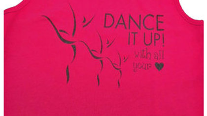 "Dance It Up! ""DANCE WITH ALL YOUR ♥"" RACERBACK TEE"
