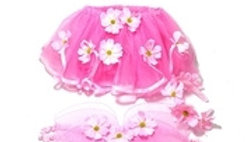PINK COSMOS TUTU, WINGS AND HEADBAND SET