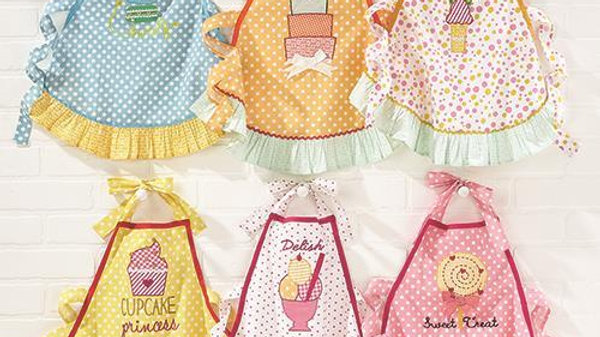 SWEET TREATS EMBROIDERED APRONS