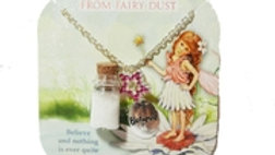 """FAIRY DUST """"BELIEVE"""" NECKLACE WITH GLITTER"""