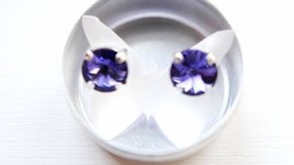 TANZANITE POST EARRINGS