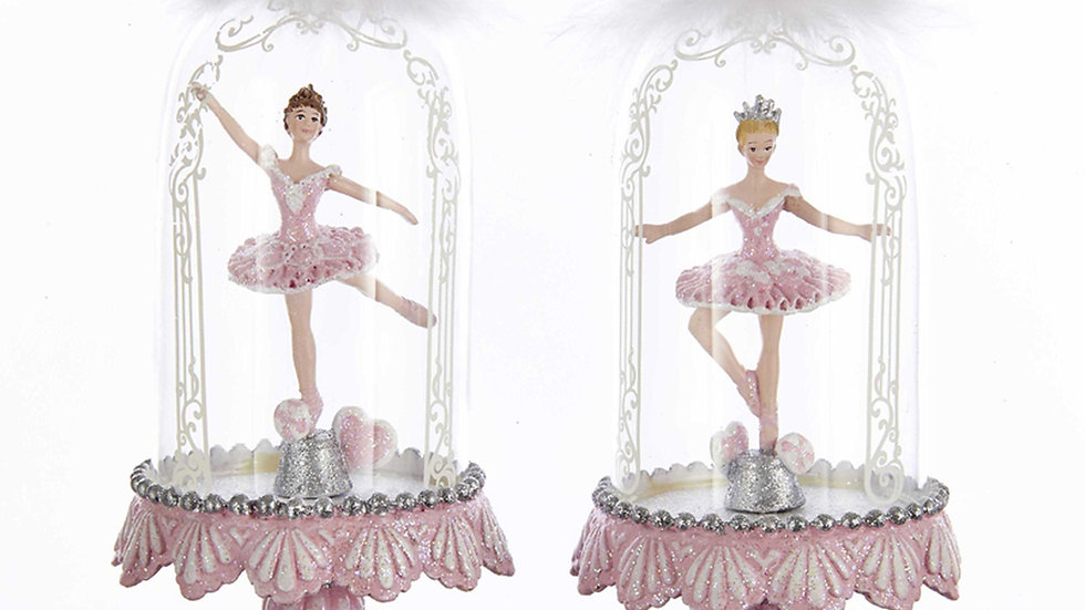 PINK BALLERINA IN GLASS DOME