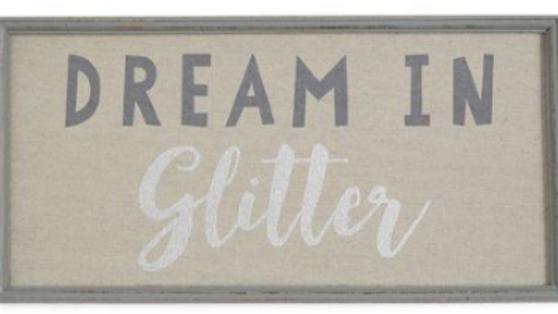 DREAM IN GLITTER WALL ART