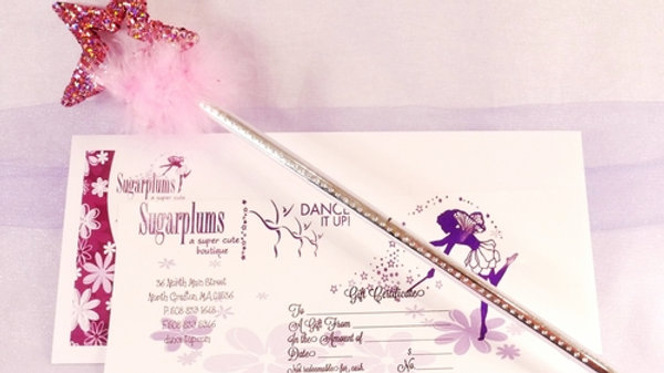 GIFT CERTIFICATE WITH WAND