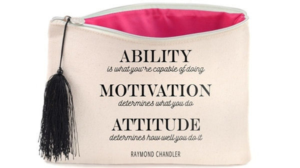 ABILITY QUOTE COSMETICS BAG