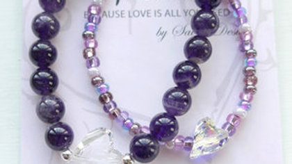 MOMMY & ME BRACELET SET (AMETHYST)