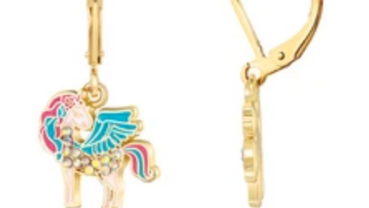 CRYSTAL UNICORN MAGIC LEVERBACK EARRINGS