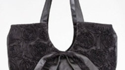 SATIN FLOWERED TULLE BAG BY WEAR MOI