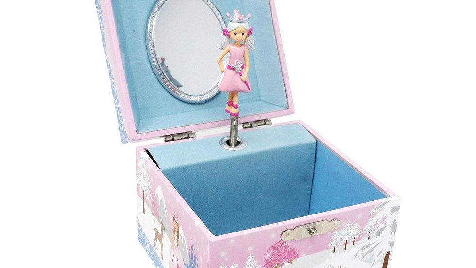 SNOW PRINCESS MUSICAL JEWELRY BOX (SMALL)