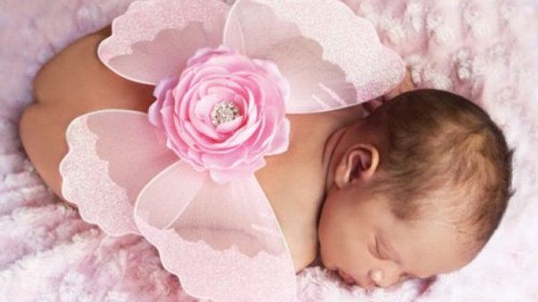 JEWELED FLOWER WINGS (NEWBORN/INFANT)