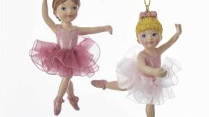 BALLERINA GIRL with TUTU ORNAMENT