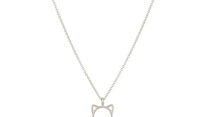 MEOW CAT HEAD CHARM NECKLACE