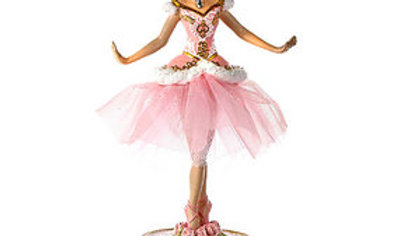 10 INCH BALLERINA FIGURE WITH MUSICAL BASE