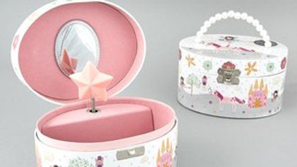 MUSICAL JEWELRY BOX FAIRY UNICORN