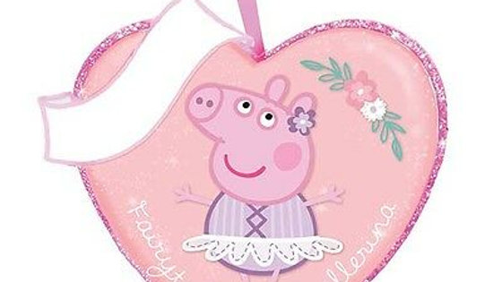 PEPPA PIG PERSONALIZED HEART ORNAMENT