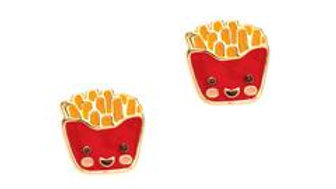 CUTIE ENAMEL FRENCH FRY FRIENDS STUDS