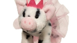 LORETTA SPOTTED PIG WITH TUTU & CROWN