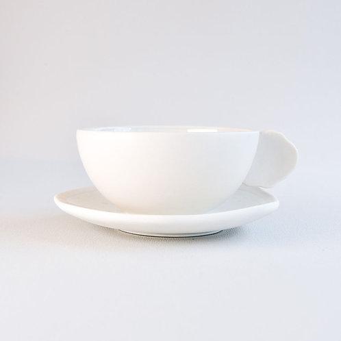 Tea Cup & Saucer Plume Nacre