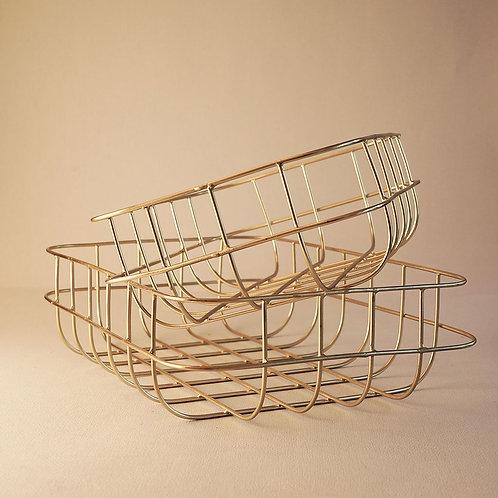 Basket Simply Shiny Gold