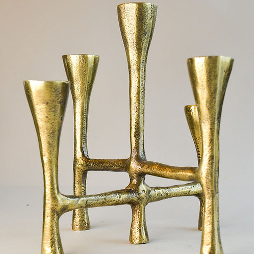 Candle Stand Tristy Brass Finish